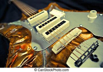 unique, artistique, guitare