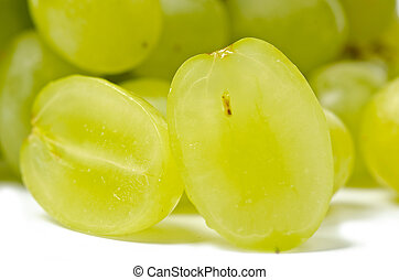 Grape - White grape  isolated on the white background