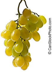 Fresh grape - White fresh grape isolated on the white...