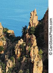 E Calanque di Piana, Corsica - E Calanque di Piana, granite...
