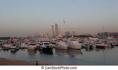 Marina in Abu Dhabi - Marina in Abu Dhabi, United Arab...