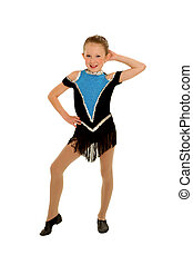 Jazz Dancer with Attitude - Young Girl Jazz Dancer in Flashy...