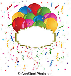 Balloons for cards and invitations