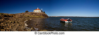 boat house - Detail view of a fisherman house with an...