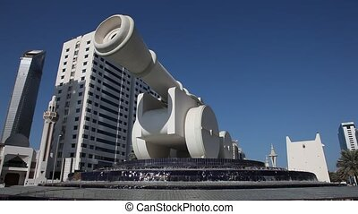 Cannon monument in Abu Dhabi - Cannon monument in Abu Dhabi,...