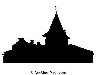 Silhouette of mansion - Silhouette of roof of mansion