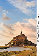Mont St Michel, Normandy, France - Mont St Michel in...