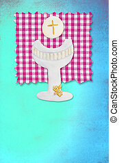 riser chalice card, my first communion for girls