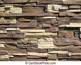 Ornamental stone cladding