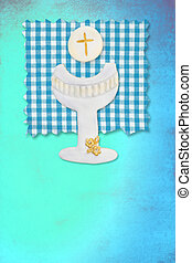 riser chalice card, my first communion for boys