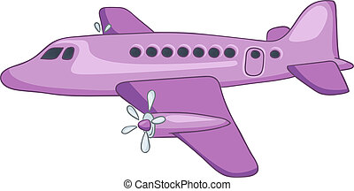 Cartoon Airplane Isolated on White Background. Vector EPS8.