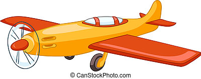 Cartoon Airplane Isolated on White Background Vector EPS8