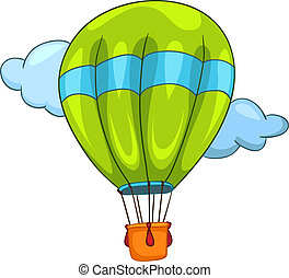 Cartoon Balloon - Cartoon Illustration Balloon Isolated on...