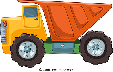 Cartoon Truck Isolated on White Background. Vector EPS8.