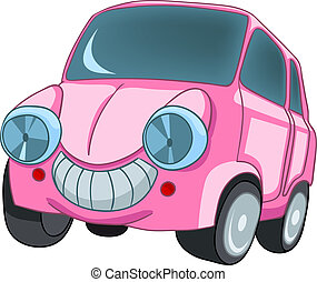 Cartoon Car Isolated on White Background Vector EPS8