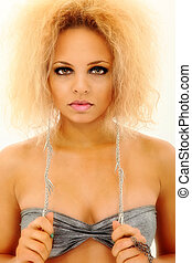 Beautiful Sexy Thirty-Something Mixed Ethnic Woman