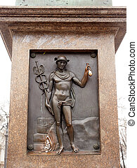 Hermes, Odessa - Hermes High relief on monument to Rishelie...