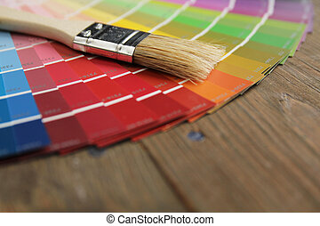 Color palette and brush - Different color palette and brush...