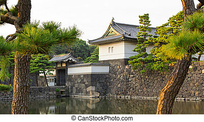 tokyo Imperial Palace Gate - The Kikyo-mon gate is one of...
