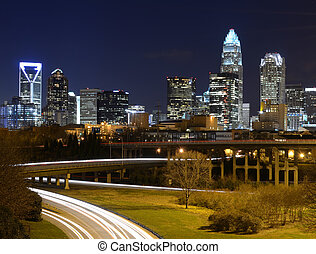 Charlotte Skyline - Skyline of uptown Charlotte, North...