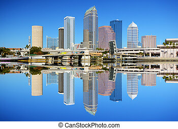 Tampa Bay Skyline - Skyline of downtown Tampa, Florida