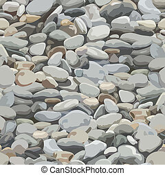 River Stone Background - Seamless pebbles background for...