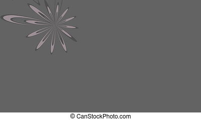 Flower on a gray background - The flower on floats a gray...