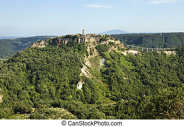 Civita Viewpoint - The medieval Italian hill town of Civita...