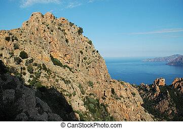 Calanque di Piana, Corsica - E Calanque di Piana, granite...