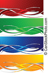 Vector colorful banners; clip-art