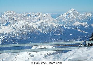 Ski resort in Dolomities, Dolomiti - Ski resort in the...