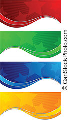 Vector collection colorful banners; clip-art