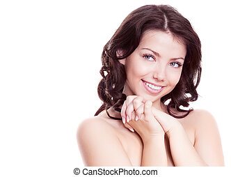 beautiful woman - portrait of a young beautiful brunette...