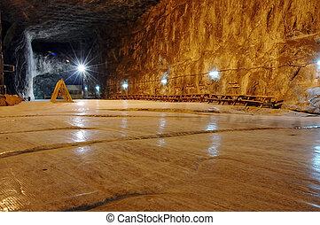 Underground salt mine - Praid (Parajd) underground salt mine...