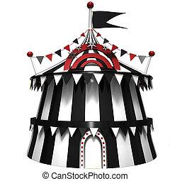 Ilustração, Circo, barraca