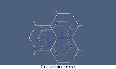 fragmento, construcciones, (hexagon)