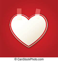 Heart Sticker - illustration of heart shape sticker with...