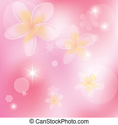 vector abstract pink background with flowers
