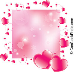 vector abstract valentine's day background