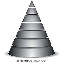 pyramid_round_01 - illustration of a sliced cone pyramid...