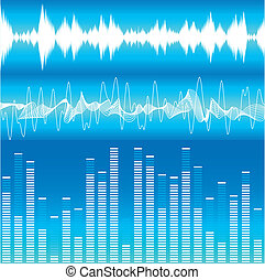 Soundwaves - illustration of different soundwave...