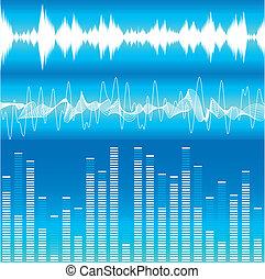 Soundwaves - illustration of different soundwave...