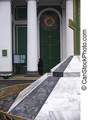 Door of muslim cultural center in Odessa