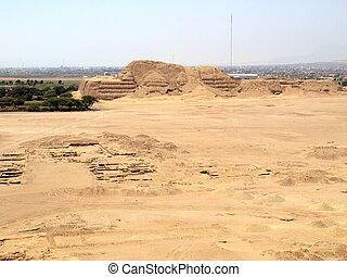 Ruins of ancient Pyramid, Trujillo