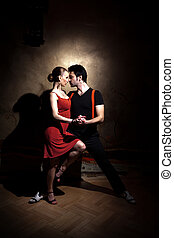 The Seduction Dance - Beautiful dancers performing an...