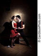 a, sedução, dança