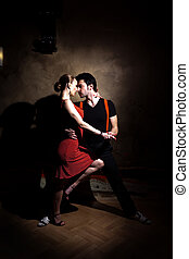 Lets Tango - Beautiful dancers performing an argentinian...