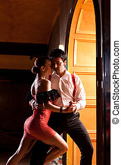 Lets Tango - A man and a woman in the most romantic dance:...