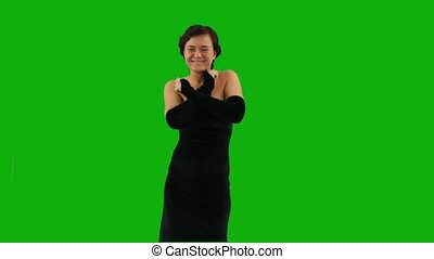 Elegant Dance - An elegant girl dances against green screen....