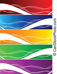 Vector set of colorful background